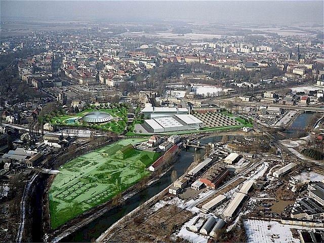 Vizualizace původního projektu na využití areálu bývalého Mila.