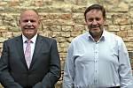 Olomoucký hejtman Ladislav Okleštěk (vlevo) a 1. náměstek Jiří Zemánek