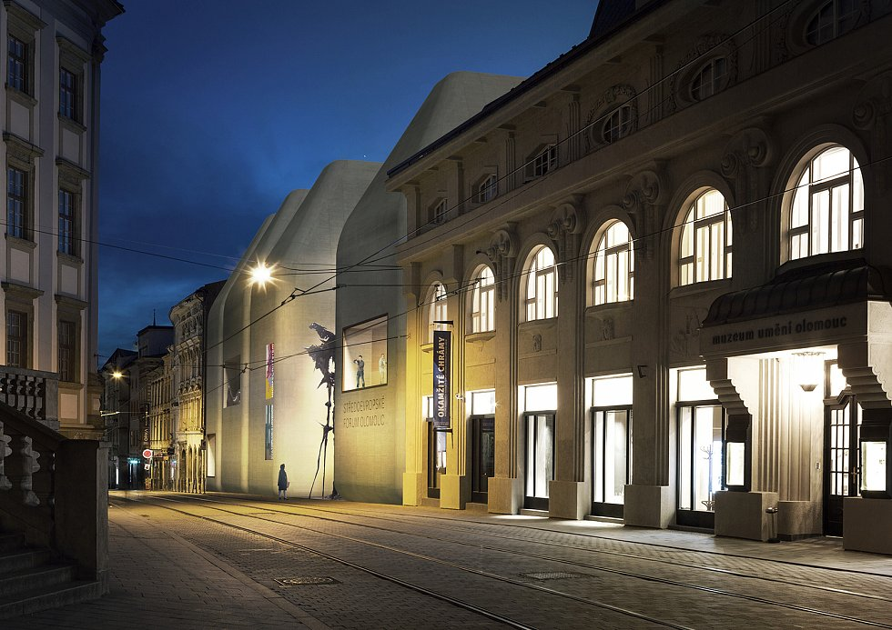 Vizualizace upravené podoby novostavby Středoevropského fóra v centru Olomouce