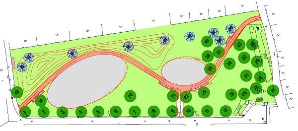 Budoucí Park Malého Noe volomoucké čtvrti Neředín