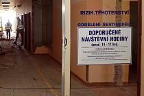 Rekonstrukce šternberské porodnice na konci července 2014