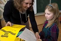 Předávání pololetního vysvědčení v 1.A na ZŠ svaté Voršily v Olomouci