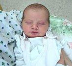 Amálie Brabcová, Komárov, Velký Týnec, narozena 29. října ve Šternberku, míra 50 cm, váha 3260 g