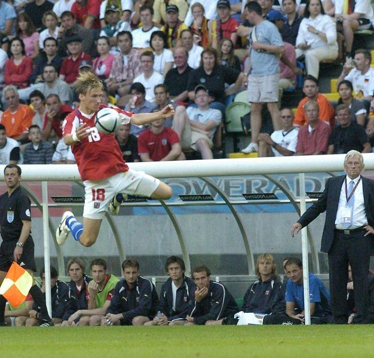 červen 2004. Marek Heinz na ME 2004 v Portugalsku. ČR - Německo 2:1