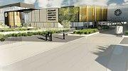 Vizualizace nového obchodního centra Galerie Šantovka 2