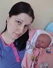 Ella Navrátilová, Olomouc, narozena 2. dubna v Olomouci, míra 50 cm, váha 2920 g