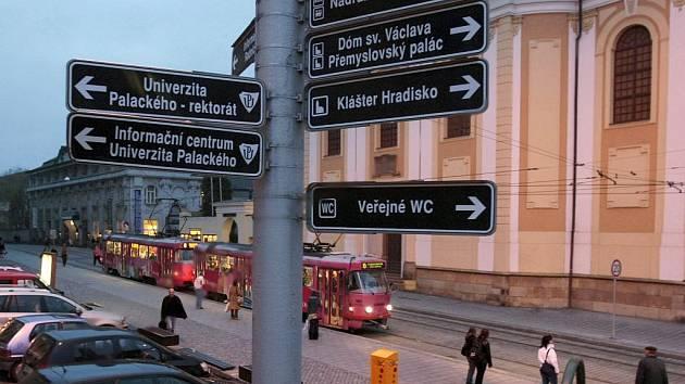 Staré směrovky v Olomouci