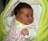 Laura Skácelová, Unčovice, narozena 19. listopadu ve Šternberku, míra 50 cm, váha 3590 g
