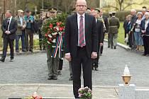 Pietního aktu v Javoříčku se zúčastnil i premiér Bohuslav Sobotka