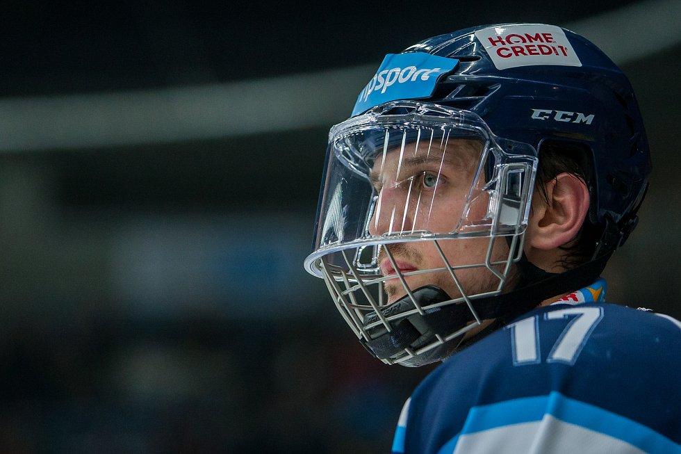 Bílí Tygři Liberec proti HC Olomouc. Lukáš Derner.