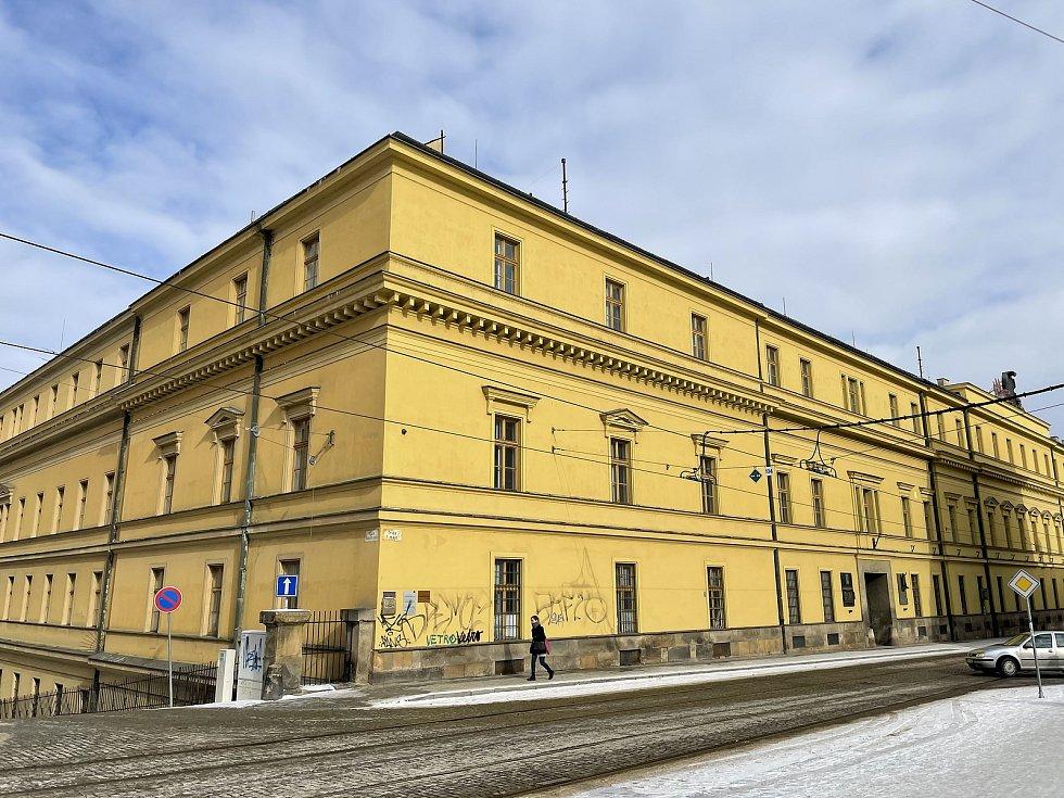 Hanácká kasárna v Olomouci, únor 2021