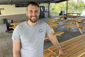 Provozovatel restaurace Terasa na olomouckém přírodním koupališti Poděbrady Jiří Holub, 12. května 2021