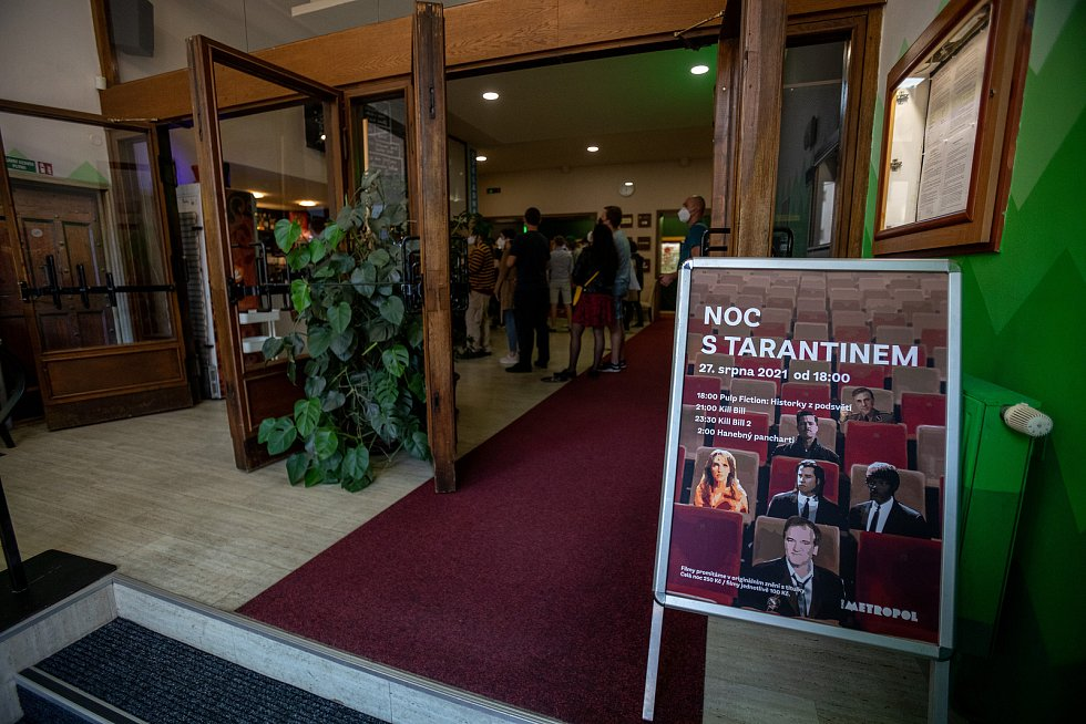 Noc s Tarantinem v olomouckém kině Metropol, 27. srpna 2021
