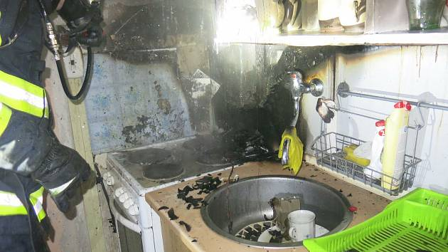 Následky prosincového požáru v bytě v Přichystalově ulici v Olomouci