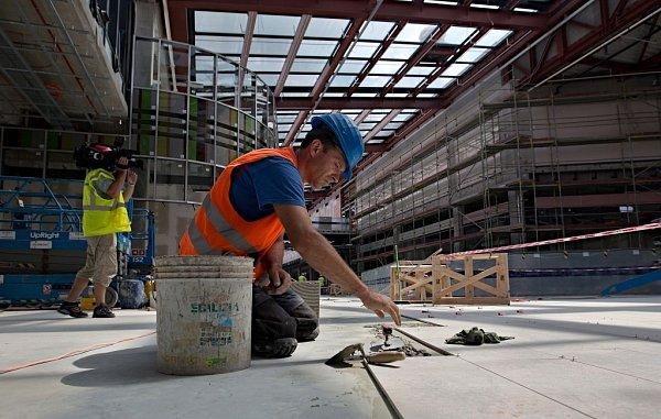 Stavba Galerie Šantovka vOlomouci - 30.července 2013
