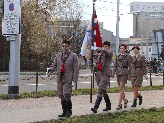 Vzpomínka na založení Sokola na třídě 17. listopadu v Olomouci
