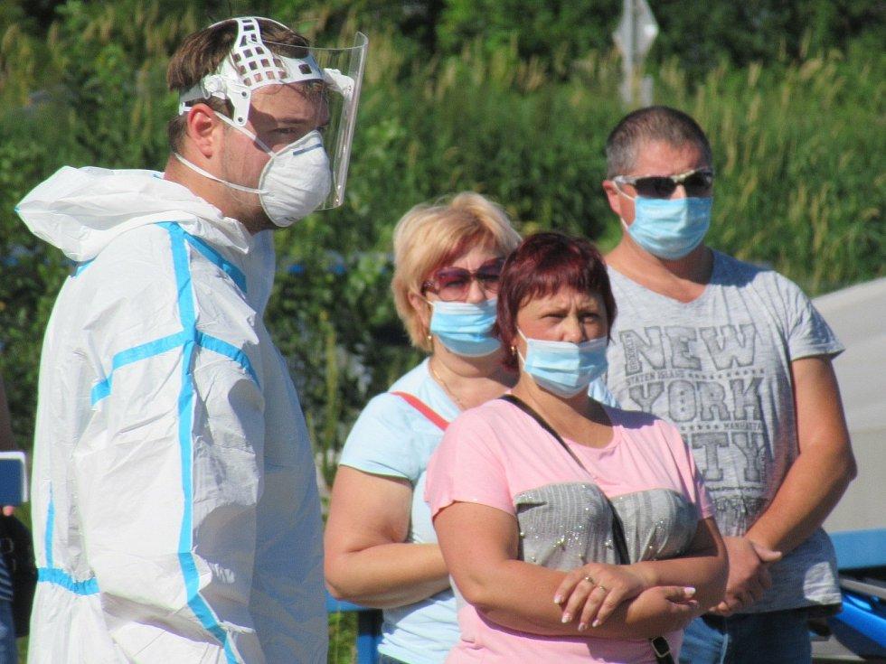 Koronavirová opatření v ČR v srpnu 2020. Testy v Prachaticích. Ilustrační foto