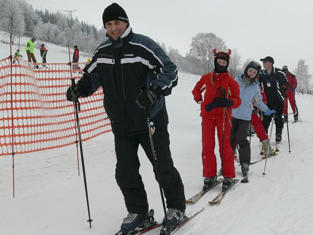 Skiareál Kareš v Koutech nad Desnou.