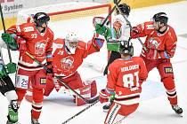 Utkání 1. kola hokejové extraligy: HC Olomouc - BK Mladá Boleslav, 10. září 2021 v Olomouci. (střed) Jan Lukáš z Olomouce.