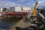 Stavba mostu a protipovodňových opatření u Bristolu v Olomouci, 28.5.2019