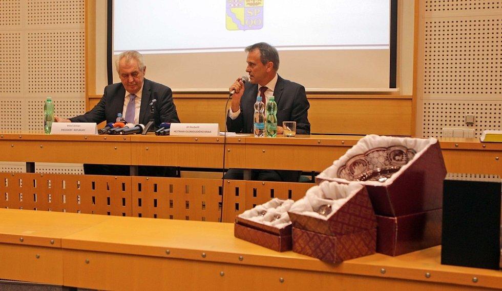 Prezident Miloš Zeman na návštěvě Olomouce