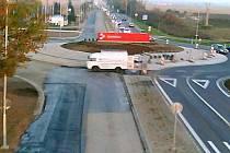 Nový rondel v Lipenské ulici