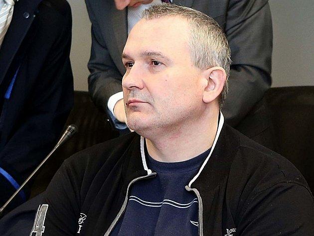 Radek Březina u olomouckého soudu