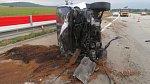 Řidička měla na D1 vytlačit opel do svodidel. Neviděli jste incident?