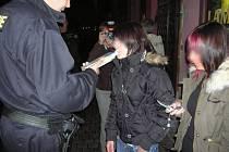 Policejní akce.