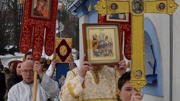 Pravoslavná bohoslužba. Ilustrační foto