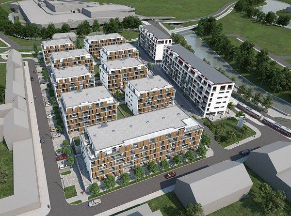 Švýcarská - vizualizace projektu mezi OC Šantovka a Velkomoravskou ulicí