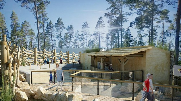 Vizualizace afrického pavilonu 'Kalahari' volomoucké ZOO