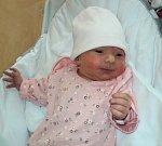 Ella Navrátilová, Olomouc, narozena 30. ledna ve Šternberku, míra 48 cm, váha 2700 g