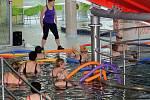 Cvičení v olomouckém aquaparku