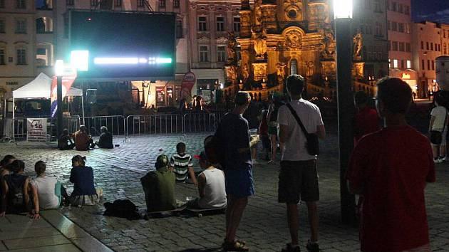 Přenos z Eura na Horním náměstí v prvním poločase zkolaboval