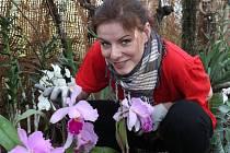 Redaktorka Olomouckého deníku Veronika Kolesárová na zahradnické zkušenosti na Výstavišti Flory