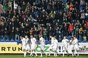 FC Baník Ostrava vs. SK Sigma Olomouc. Radost domácích po gólu.