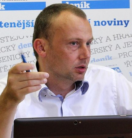 Ředitel Povodí Moravy Jan Hodovský při on-line rozhovoru pro Deník