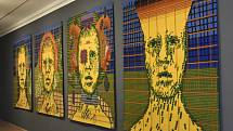 Umění tapiserie / Dílo a jeho předobraz v sále Trojlodí Muzea moderního umění Olomouc