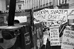 Sametová revoluce v Olomouci - happening studentů