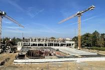 Výstavba krytého bazénu ve Šternberku, 4. října 2021