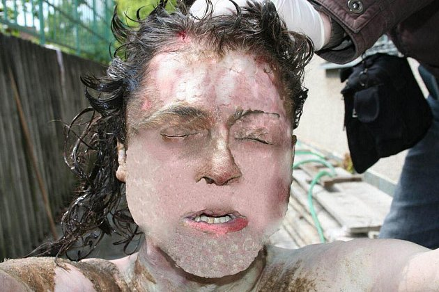 Utonulý muž nalezený v řece Moravě u Veselí nad Moravou (fotografie byla policií upravena)