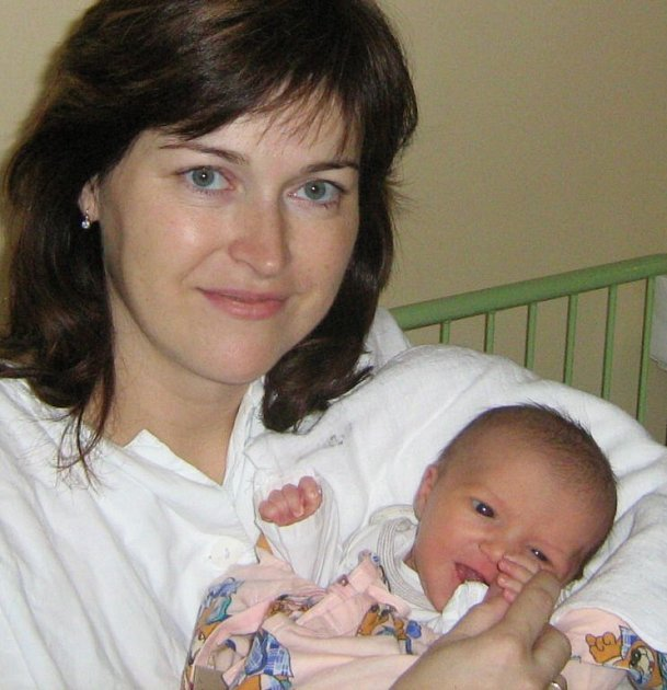 Viktorie Weinerová, Olomouc, narozena 16. prosince v Olomouci, míra 50 cm, váha 3090 g