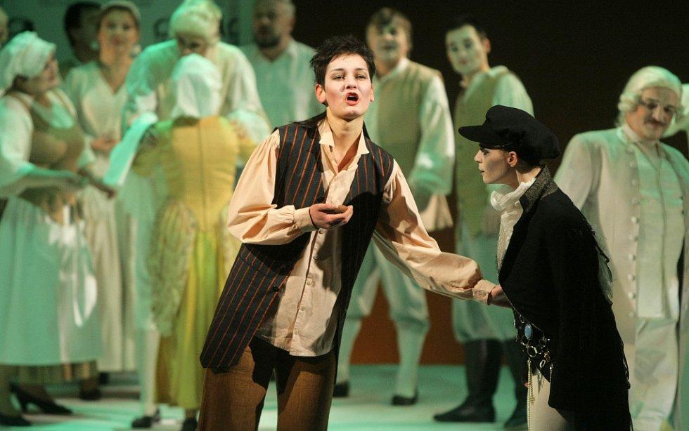 Opera Straka zlodějka v Moravském divadle.