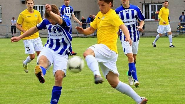 Fotbalisté Uničova proti Hlučínu