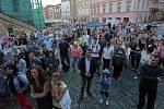 Open – Air koncert Hudebního Institutu na Horním náměstí v Olomouci v rámci Svátků města a písní.