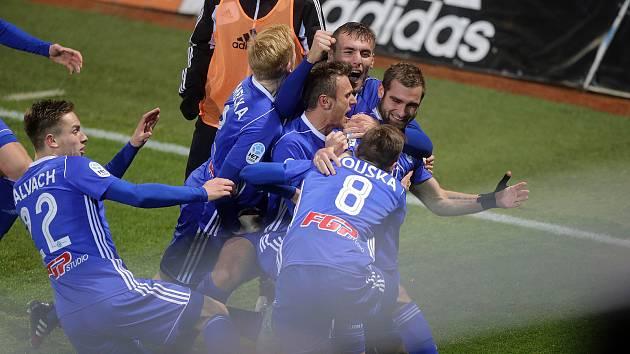 Sigma slaví rozhodující gól zápasu se Spartou