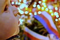 17. listopad. Výročí sametové revoluce. Ilustrační foto.