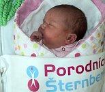 Leontýna Martinková, Bruntál, narozena 26. března ve Šternberku, míra 50 cm, váha 3810 g