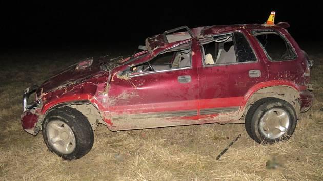 Tragická nehoda mezi Horní Loděnicí a Moravským Berounem